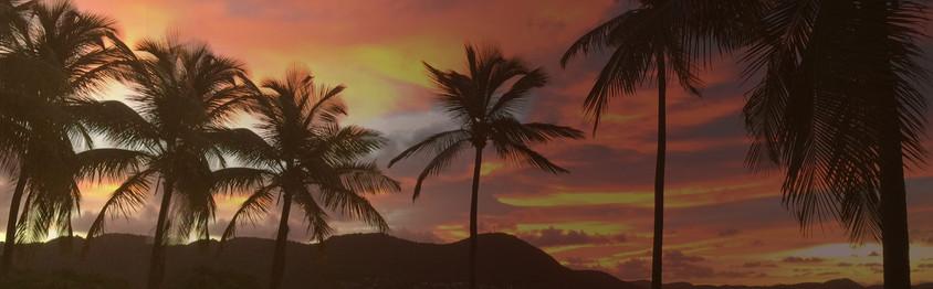 Levé de soleil sur la plage de Gros Raisins