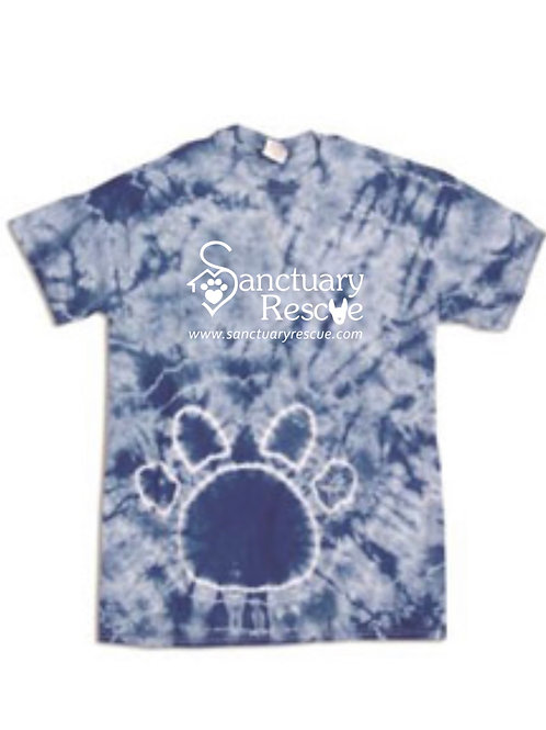 Royal Pawprint Tie Dye