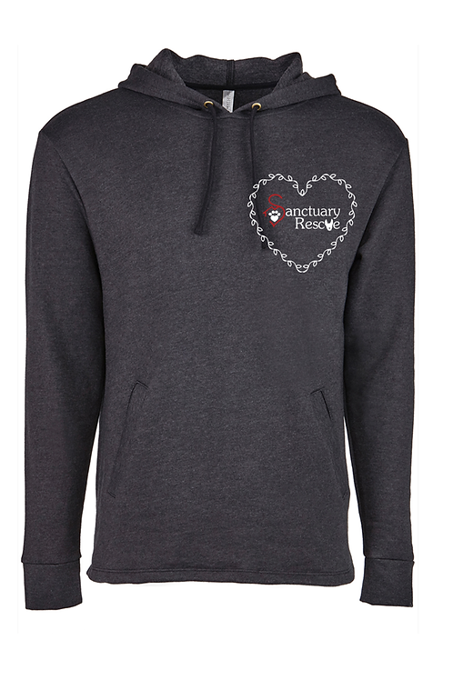 Open Bottom Embroidered Sanctuary Rescue Hoodie Sweatshirt
