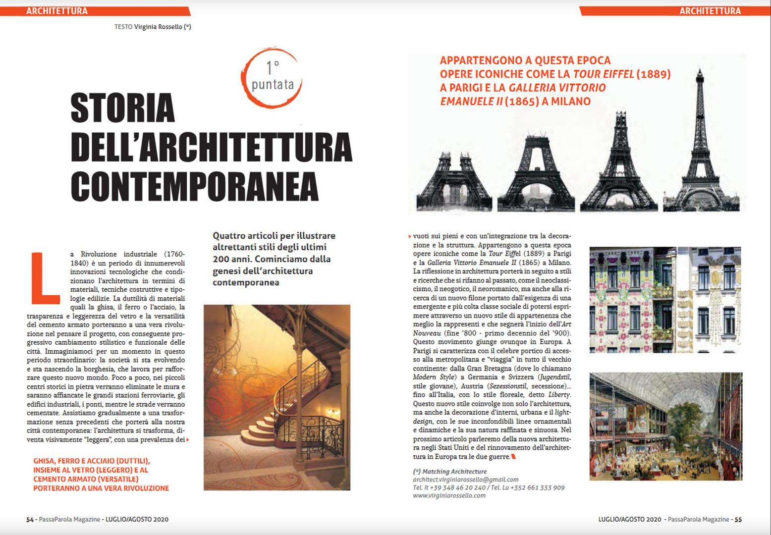 prima puntata storia architettura contem