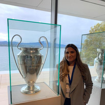 Ashley and the Champions League Trophy