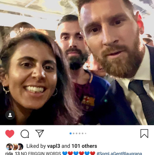 Rida meets her hero Messi