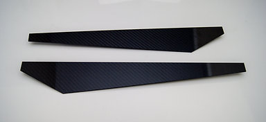 Carbon Fiber Rear Bumper Splitters Vertical Style