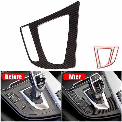 Carbon Fiber Gear Shift Control Panel Trim Cover