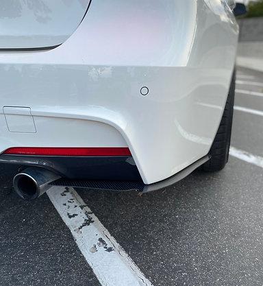 F30 Carbon Fiber Rear Bumper Canards / Splitters