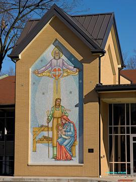 Holy Family mosaic