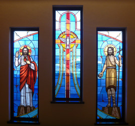 Baptismal stained glass windows