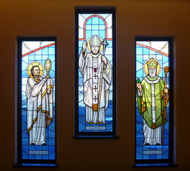 Pope stained glass windows