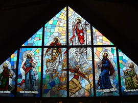 Four Apostle stained glass window