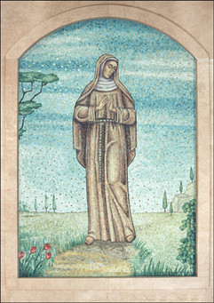 St Clare mosaic