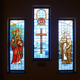 St Augustine - St Monica - stained glass