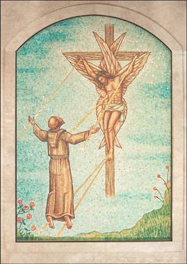 Stigmata of St Francis mosaic