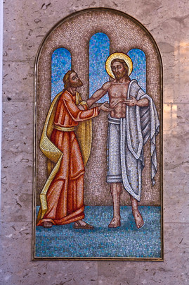St Thomas with Christ mosaic