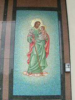 St Joseph with Christ Child mosaic