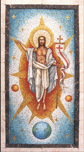 Christ Resurrection mosaic
