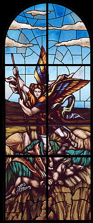 Archangel-Michael-stained-glass-Florida.