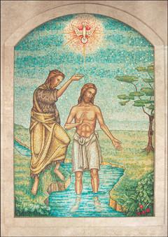 St John Baptising Christ mosaic