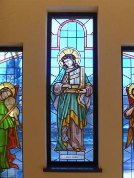 Saint Cecilia - stained glass window