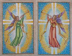 Trumpeting Angels - mosaics