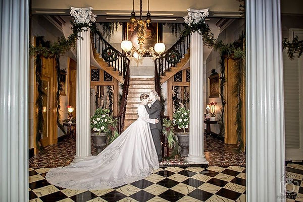 Belmont Mansion wedding at Christmas at