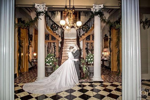 Belmont Mansion wedding at Christmas at