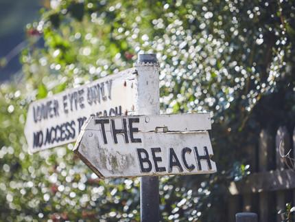To the beach - for a beach wedding, seaside celebration