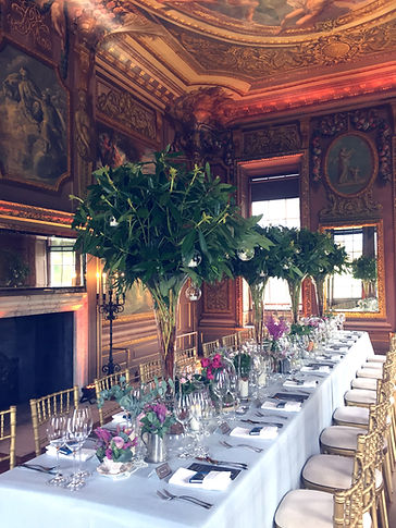 breathtaking nature inspired private dining at the Little Banqueting House