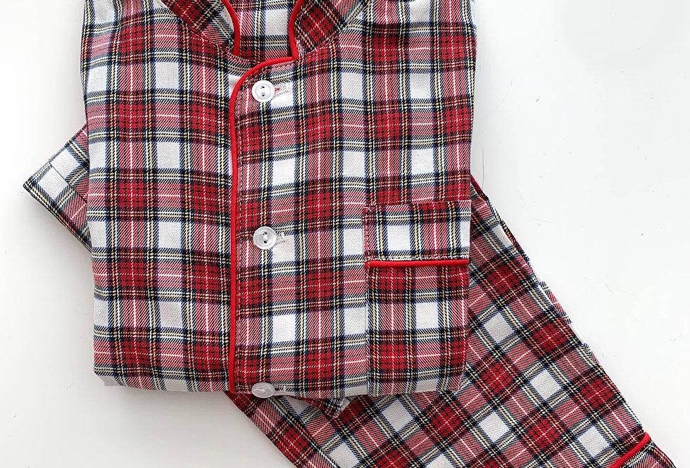 Neo escocés rojo y blanco