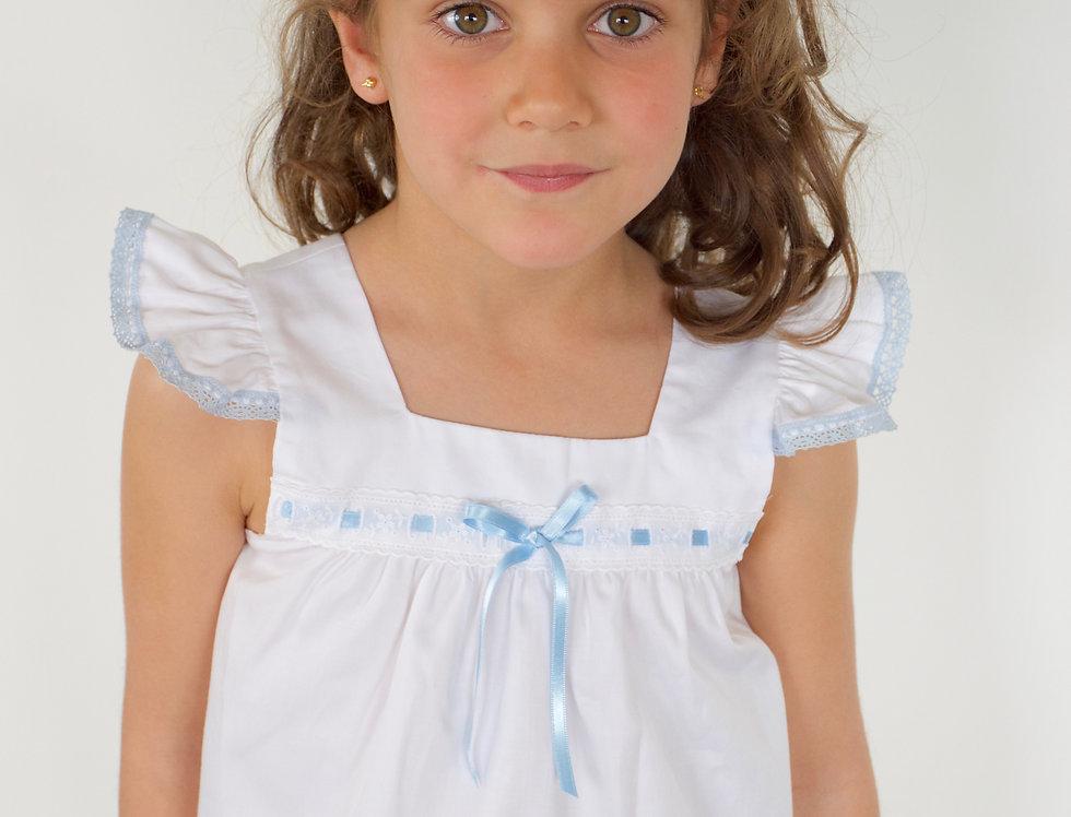 Pijama Alitas Blanco azul