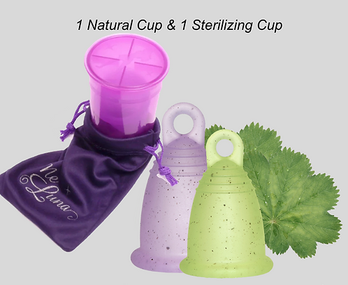 1 Natural Cup & 1 Sterilizing Cup