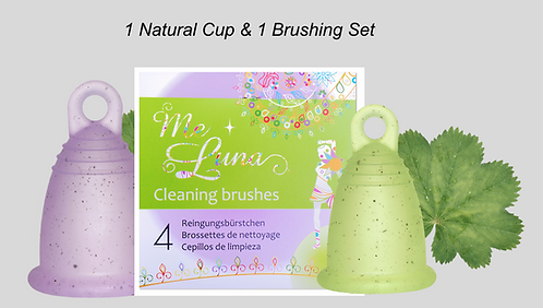1 Natural Cup & 1 Pack of Cleaning Brushes