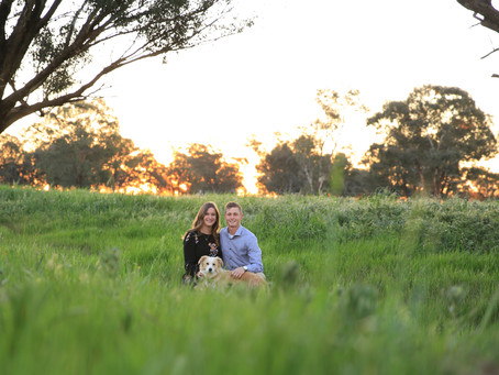 Sweet Sunset Engagement Session