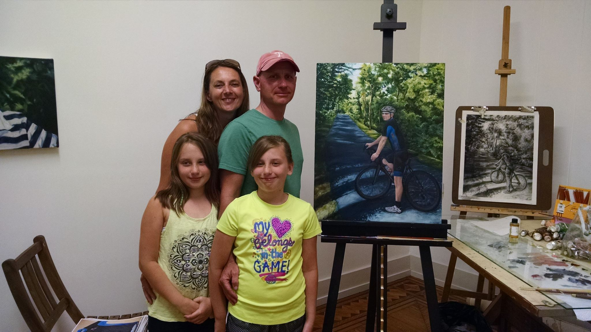 Bitner Family with their portrait