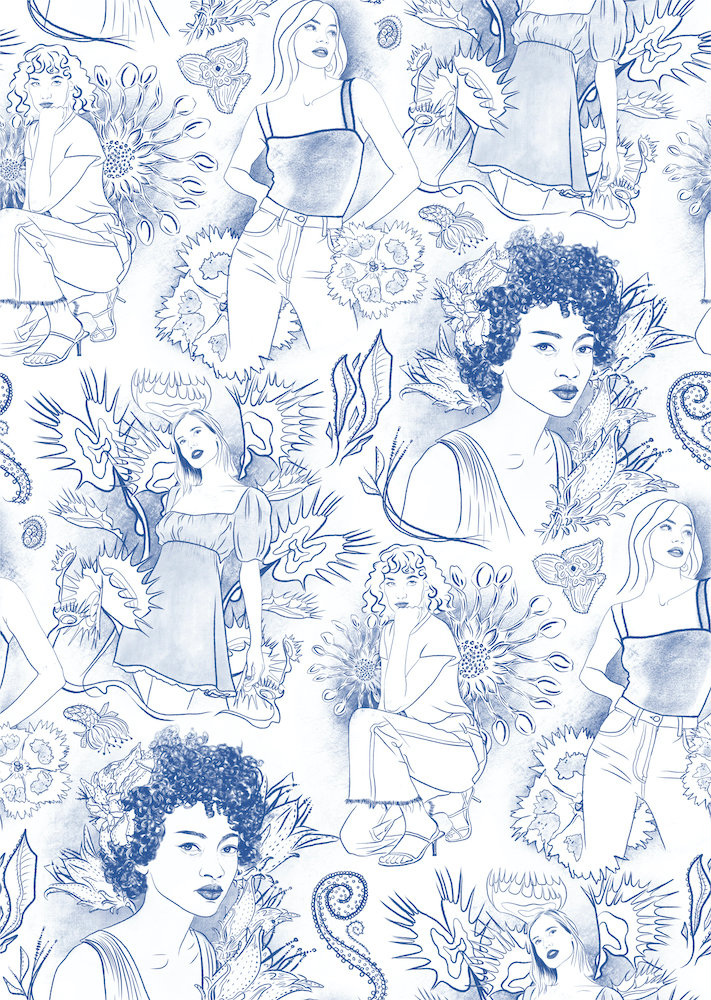 Toile Pattern Illustration by Ariana Pacino