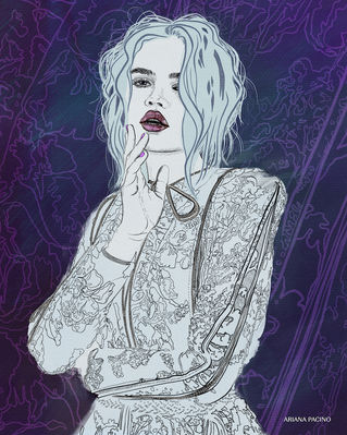 Candace Cuoco Fashion Illustration