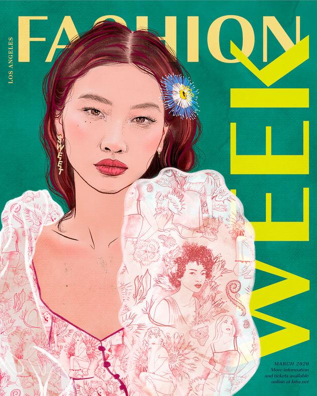 HoYeon Jung Fashion Week Poster
