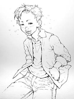 unique custom anime kid portrait