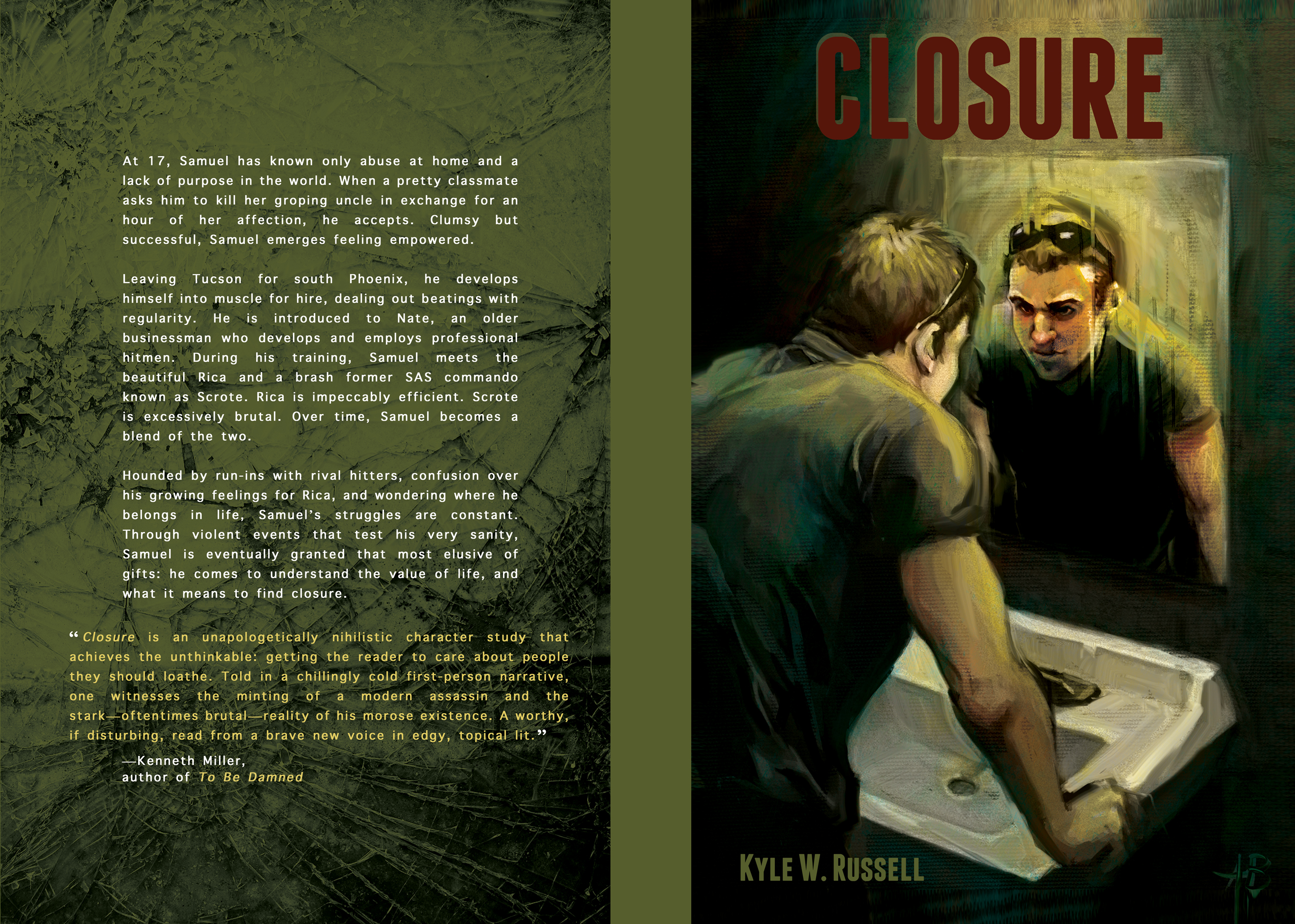 Colsure book jacket design