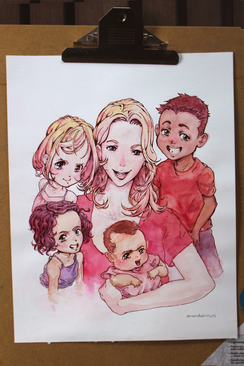 unique custom anime family portrait