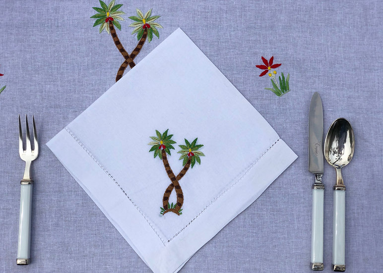 The Hand Embroidered Palm Tree