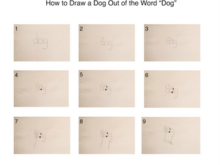 How to Draw a Dog out of the Word Dog!