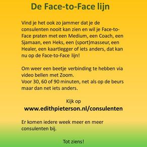 Yes!!! De Face-to-Face lijn!!
