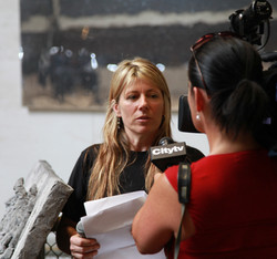 Interview at Mounted Police Event