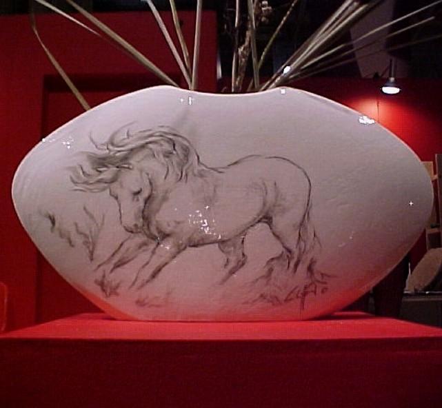 """""""Stallion Vase"""", Ceramic"""