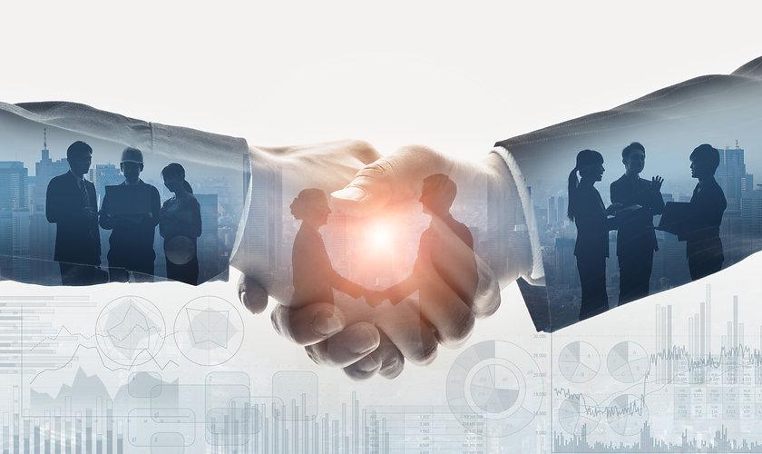 Business communication concept. Marketin