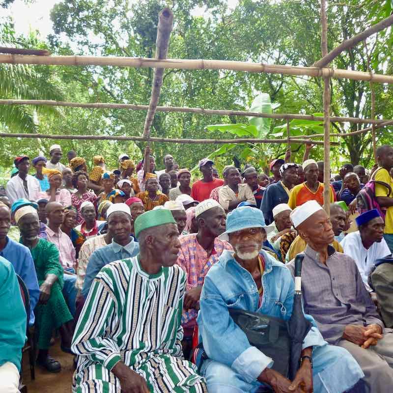 Sunbird Bioenergy's out-grower meeting in Sierra Leone