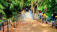 New Footbridge That Enables Local Village Children to Get to School