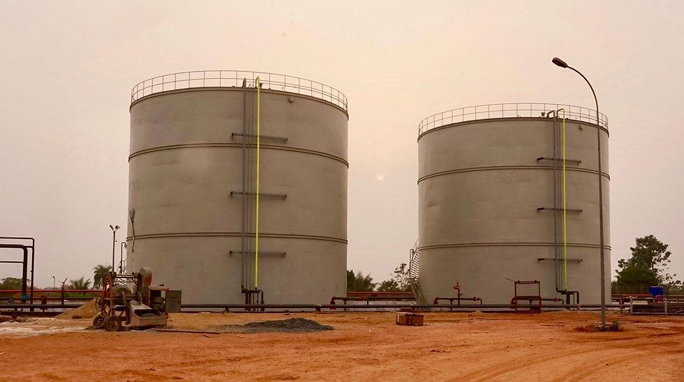 Sunbird Bioenergy Extra Neutral Alcohol and Ethanol Bulk Storage Tanks