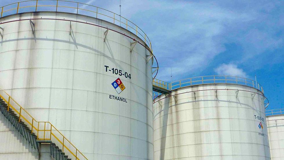 Sunbird Bioenergy Ethanol Bulk Storage Tanks