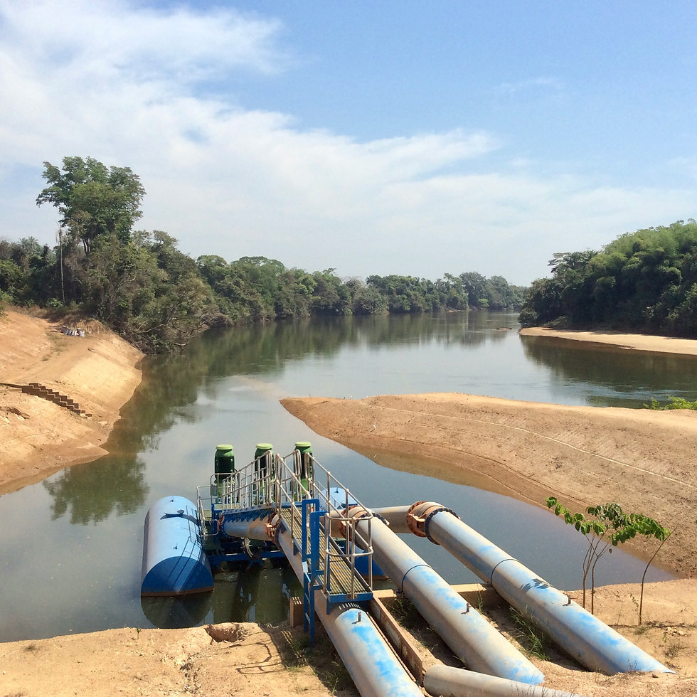 Sunbird Bioenergy Irrigation System Abstracting Water from Rokel River